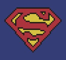 Superman Pixels Logo by D4RK0