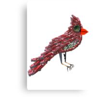 Steampunk Dada Cardinal (Red Cadillac Cardinal Bird Surrealist Collage) Canvas Print