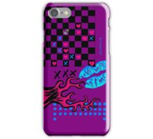 Pink fire purple girlie chic iPhone Case/Skin