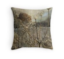 Winter in the Meadow Throw Pillow