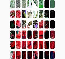 Mixed color Poinsettias 3 Art Rectangles 1 Unisex T-Shirt