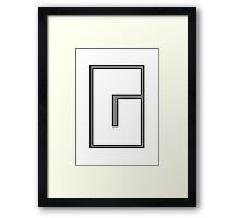 G sign Framed Print