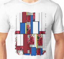 Mixed color Poinsettias 3 Art Rectangles 4 Unisex T-Shirt