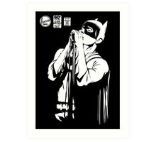 Post-Punk Dark Knight | The Shadowplay B&W Edition Art Print