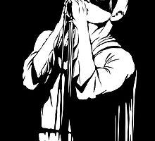 Post-Punk Dark Knight | The Shadowplay B&W Edition by butcherbilly