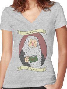 Keep it secret! Women's Fitted V-Neck T-Shirt