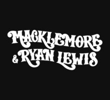Macklemore and Ryan Lewis Logo Black tee by Zed Clarity