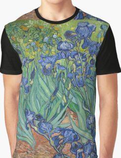 Vincent Van Gogh - Irises.  Van Gogh - Irises Impressionism Flowers 1889 Graphic T-Shirt