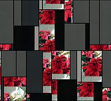 Mixed color Poinsettias 3 Art Rectangles 7 by Christopher Johnson