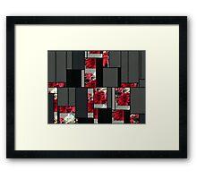 Mixed color Poinsettias 3 Art Rectangles 7 Framed Print