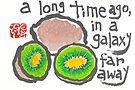 Galaxy (kiwi fruit) by dosankodebbie
