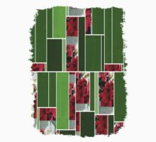 Mixed color Poinsettias 3 Art Rectangles 12 One Piece - Long Sleeve
