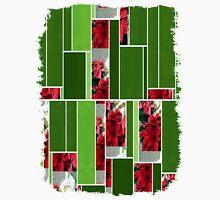 Mixed color Poinsettias 3 Art Rectangles 12 Unisex T-Shirt
