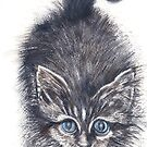 'Here...kitty, kitty.' by fi-ceramics