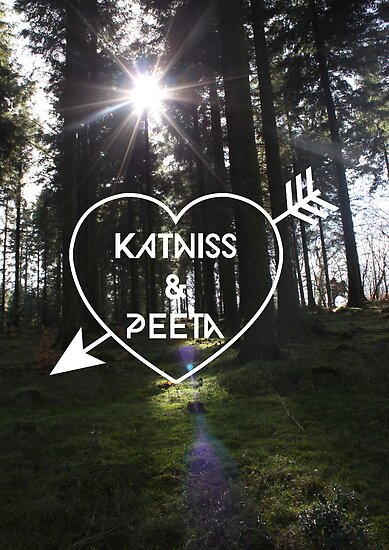 Katniss & Peeta <3 - Forest (personalisation available) by EF Fandom Design