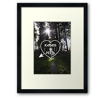 Katniss & Peeta <3 - Forest (personalisation available) Framed Print