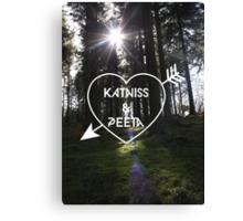 Katniss & Peeta <3 - Forest (personalisation available) Canvas Print