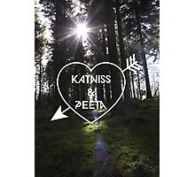 Katniss & Peeta <3 - Forest (personalisation available) Photographic Print