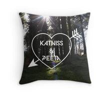 Katniss & Peeta <3 - Forest (personalisation available) Throw Pillow