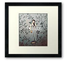 her name means beauty. Framed Print