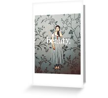 her name means beauty. Greeting Card