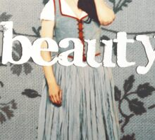 her name means beauty. Sticker