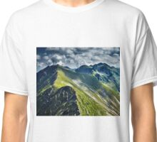 Mountain trail in a cloudy day Classic T-Shirt