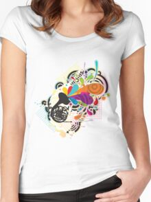 Horn_Music Women's Fitted Scoop T-Shirt