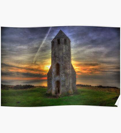 St Catherines Oratory Sunset Poster