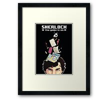 Sherlock: the game is on Framed Print