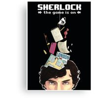 Sherlock: the game is on Canvas Print