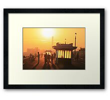 Hove seafront at sunset Framed Print