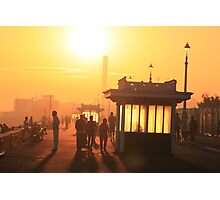 Hove seafront at sunset Photographic Print