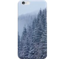 Snow-covered fir forest iPhone Case/Skin