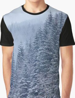 Snow-covered fir forest Graphic T-Shirt