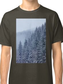 Snow-covered fir forest Classic T-Shirt