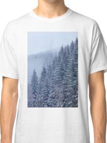 Snow-covered fir forest Classic T-Shirt