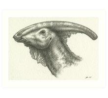 _Parasaurolophus_ Art Print