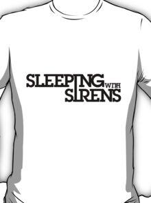 Sleeping With Sirens Logo (black) T-Shirt