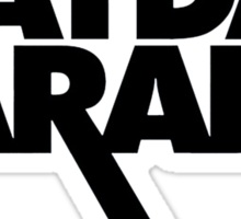 Mayday Parade logo (black) Sticker