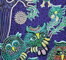 Owl Family by Laura Barbosa