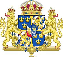 Greater Coat of Arms of Sweden Without Ermine Mantling  by abbeyz71