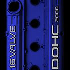 Mitsubishi Valve Cover 4G63 Blue (Samsung)  by Hector Flores