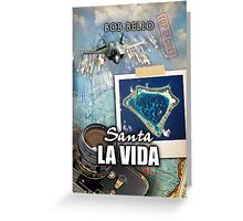 Santa La Vida Greeting Card