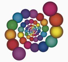 Beautiful Rainbow Sphere Spiral by Kitty Bitty
