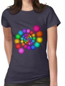 Beautiful Rainbow Sphere Spiral Womens Fitted T-Shirt
