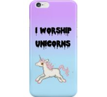 I Worship Unicorns. iPhone Case/Skin