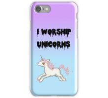 I Worship Unicorns. iPhone Case/Skin