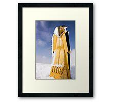 Squamish Nation Eagle Statue Framed Print