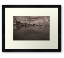 Water Mirror in Bordeaux Framed Print